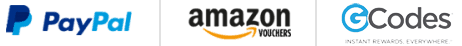 Paypal amazon and codes logo