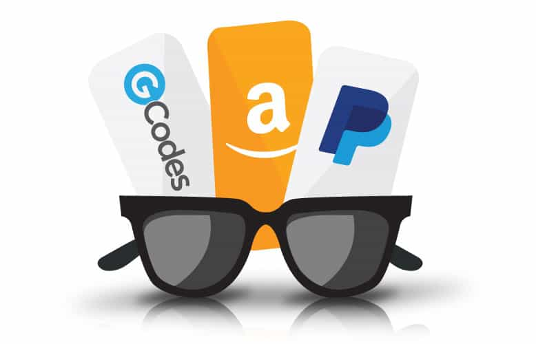 Codes amazon paypal tickets and glasses